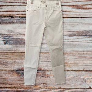 Madewell Skinny Skinny White Jeans 26